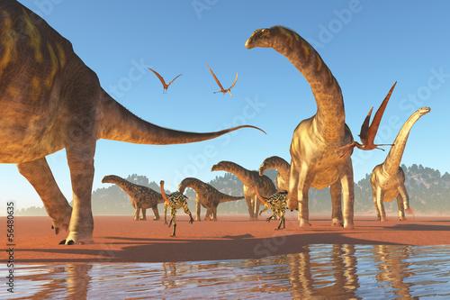 Photo  Argentinosaurus Herd