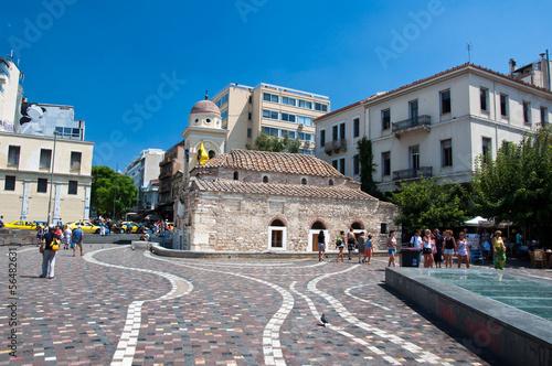 Fotobehang Athene Monastiraki Square in Athens, Greece