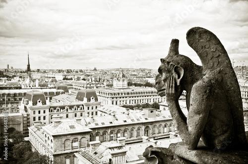 Foto op Canvas Parijs gargouille Notre-Dame de Paris
