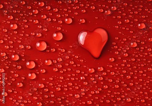 Naklejka na szybę Herz aus Wassertropfen