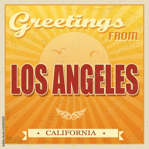 Vintage Los Angeles, California poster