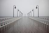 stare molo w deszczu na Morzu Bałtyckim Orlowo Gdynia Polska - 56495892