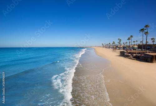 Fotomural Newport beach in California with palm trees