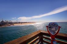 Newport Beach In California View From Pier Telescope
