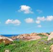 Costa Paradiso under a cloudy sky