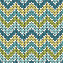 Knitted Zigzag Pattern Seamles...