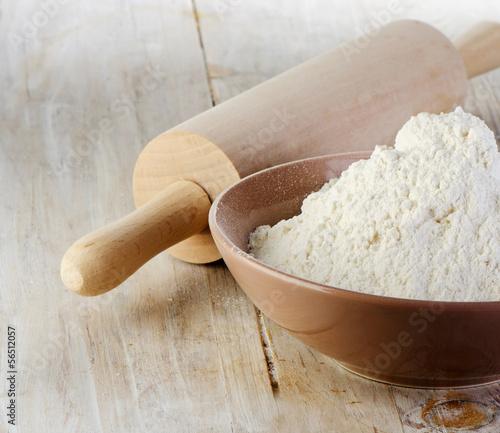 Garden Poster Spa Flour on a wooden table