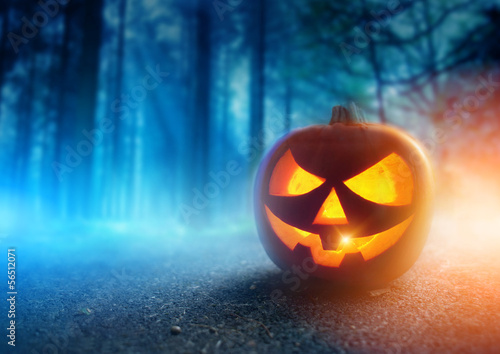 Fotografie, Obraz  Spooky Halloween Night