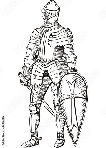 Canvas Print Medieval knight