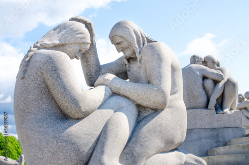 Photo  Womans sculpture at Frogner Park in Oslo Norway