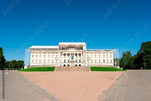 Photo  Royal Palace at Oslo Norway
