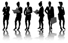 Businesswoman Silhouettes - Ve...