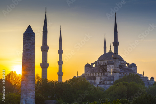 Fotografie, Tablou  Sultanahmet Camii / Blue Mosque, Istanbul, Turkey