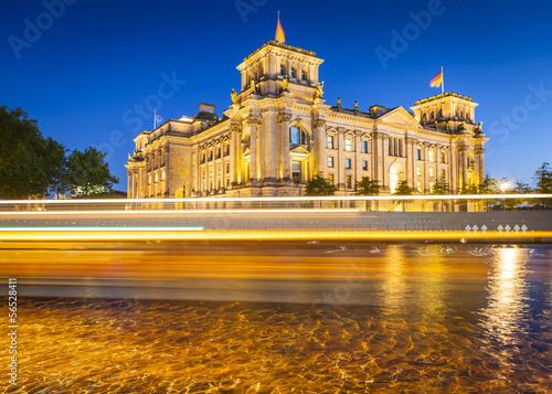 Reichstag, River Spree, Berlin Poster