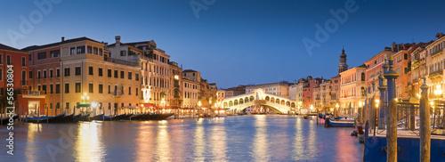 Aluminium Prints Venice Rialto Bridge, Venice