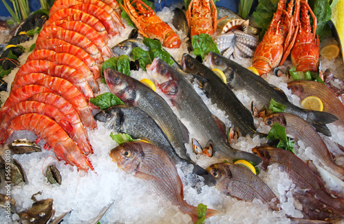 Poster Vis Frozen seafood