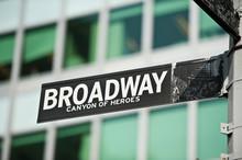 Broadway Street Sign New York