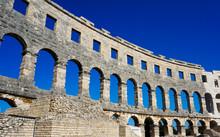 The Old Amphitheatre In Pula - Croatia