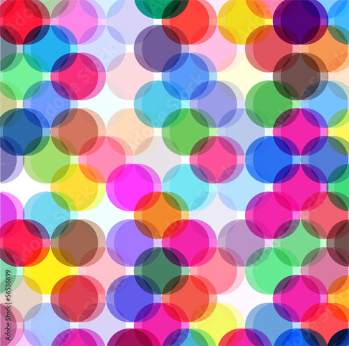 Naklejka transparent colors abstract dots background