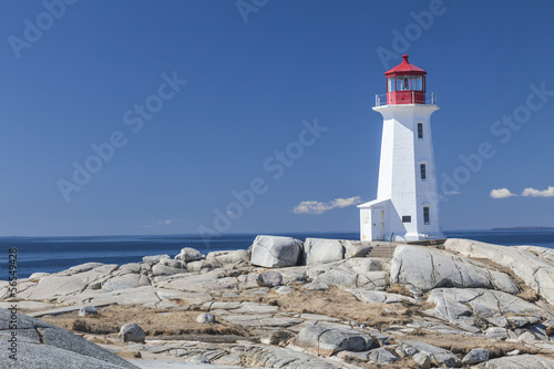 Photo Peggy's Cove lighthouse, Nova Scotia