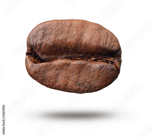 Coffee bean on white background.