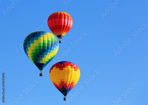 Fényképezés  hot air balloons against blue sky