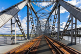 Historyczny żelazny most kolejowy w Tczewie