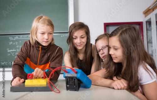 Fotografia  Versuch im Physik-Unterricht