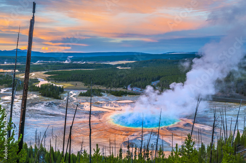 Grand Prismatic Geyser from above Fototapeta