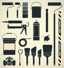 Vector Set: Painting Supplies ...