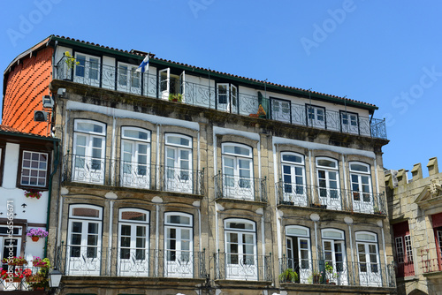 Fotografie, Obraz  Guimarães Old Buildings, Guimarães, Portugal
