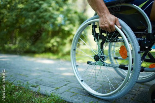 Photo  Wheelchair walk