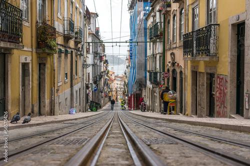Fototapety, obrazy: Street in Lisbon, Portugal