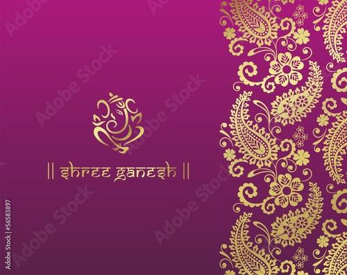 Photo  Ganesha, wedding card, royal Rajasthan, India
