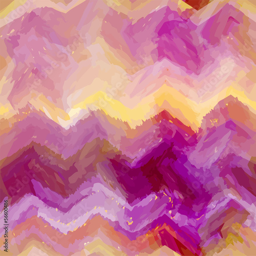 Keuken foto achterwand ZigZag Grunge striped and stained wavy horizontal seamless pattern