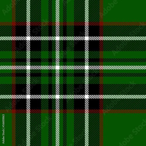 Photo  Tartan traditional fabric seamless texture, green black