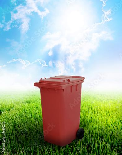 Fototapety, obrazy: Brown Recycle Bin