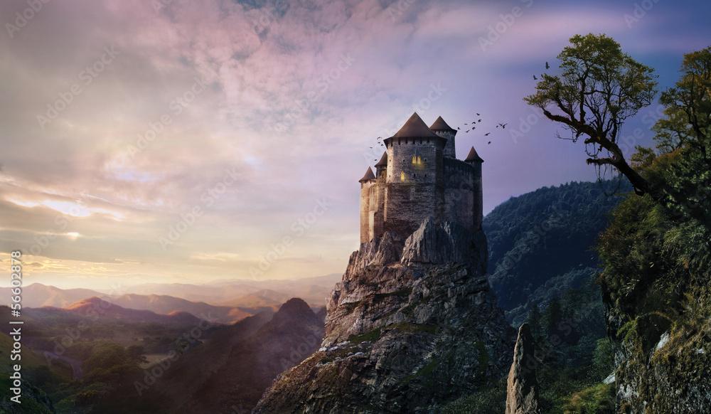 Fototapeta misty castle