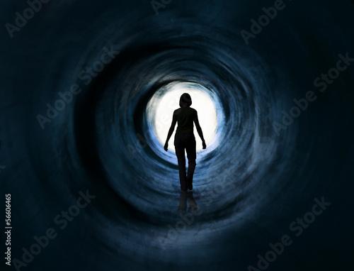 Fotografie, Obraz  Vize chůze do světla