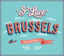 Vintage Greeting Card From Brussels - Belgium.