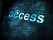 Safety concept: Access on digital background