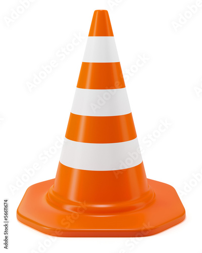 Fotografie, Obraz  Traffic cone isolated on white