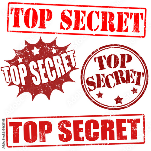 Photo  Top secret stamps