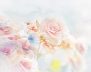 Naklejka Romantic Roses in vintage style