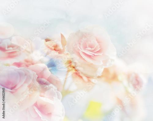 Romantische Rosen im Vintagestil