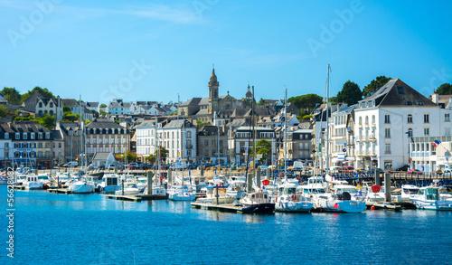 Stickers pour porte Ville sur l eau Audierne, Bretagne