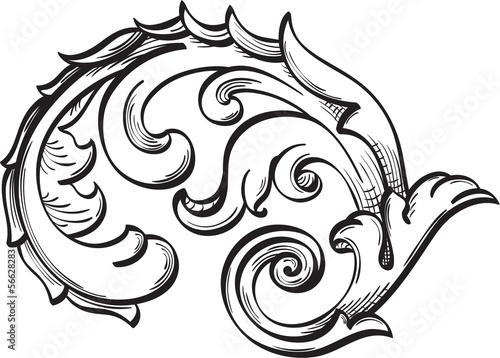 Poster Sprookjeswereld Acanthus scroll
