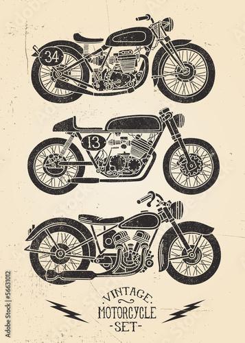 Vintage Motorcycle Set Poster