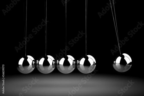 Fotografie, Obraz  Balancing balls Newton's cradle