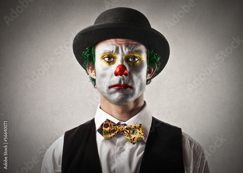 sad clown Fototapete